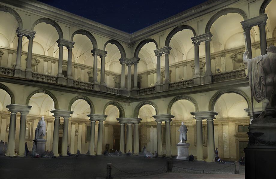 Castagnaravelli illuminazione accademia di brera for Accademia di brera